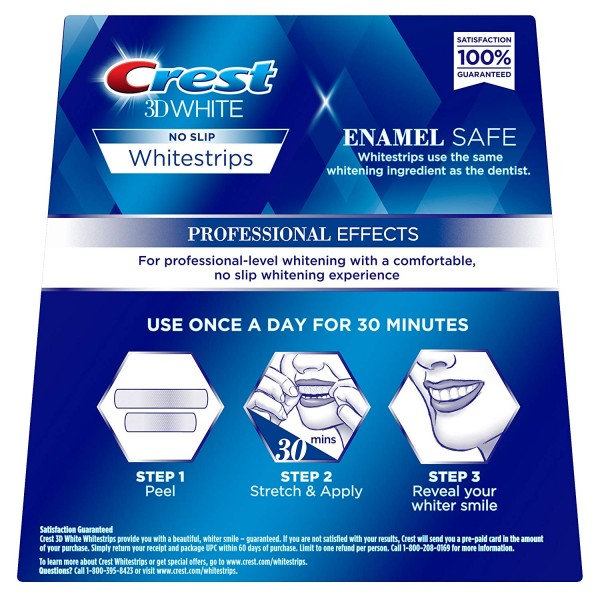 Crest 3D White Professional Effects Whitestrips Teeth Whitening Strips Kit, (20 Treatment/40 Strips)2