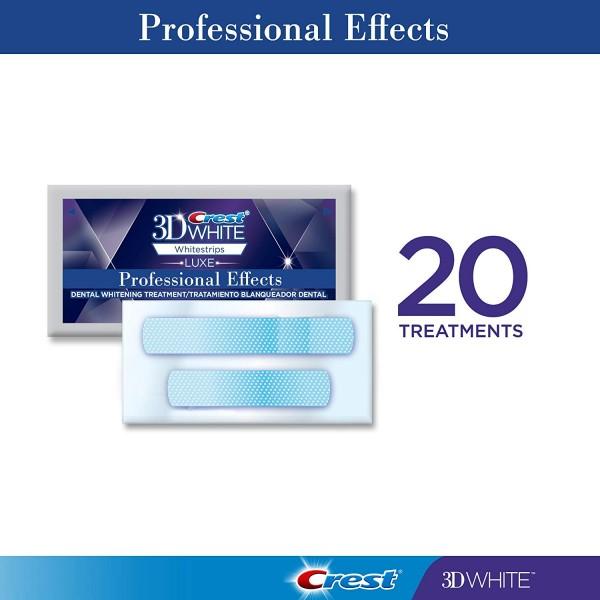 Crest 3D White Professional Effects Whitestrips Teeth Whitening Strips Kit, (20 Treatment/40 Strips)4