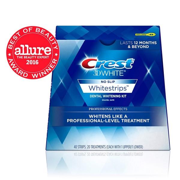 Crest 3D White Professional Effects Whitestrips Teeth Whitening Strips Kit, (20 Treatment/40 Strips)5
