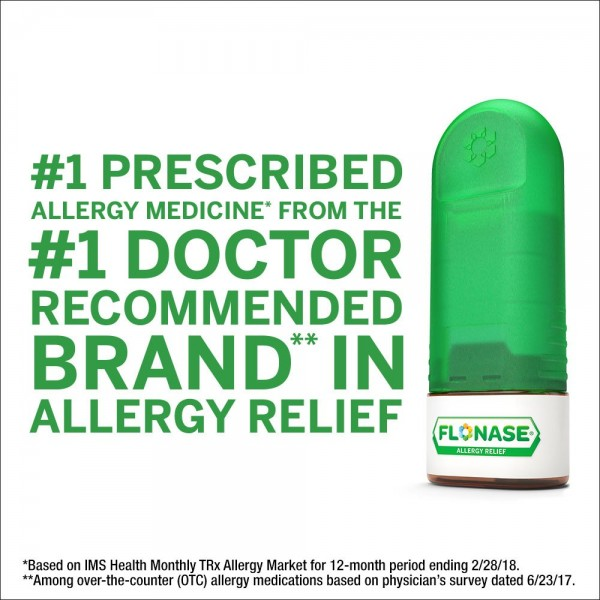 Flonase 24hr Allergy Relief Nasal Spray, Full Prescription Strength, 288 Sprays (Twinpack of 144 Sprays)5