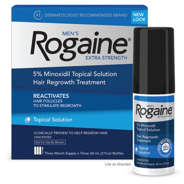 ROGAINE MENS EXTRA STRENGTH SOLUTION 2 Oz. (Pack of 3)4